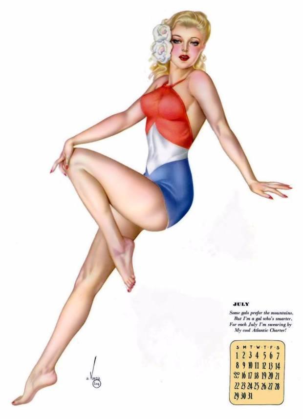 Vargas Esquire calendar