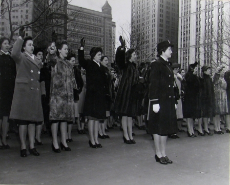 WAVES being sworn into the service in New York City.