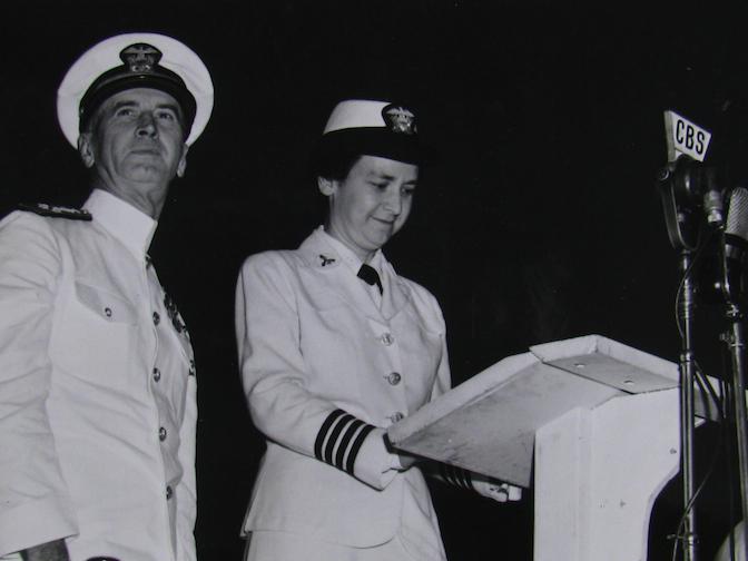 Mildred McAfee speech, second anniversary WAVES.