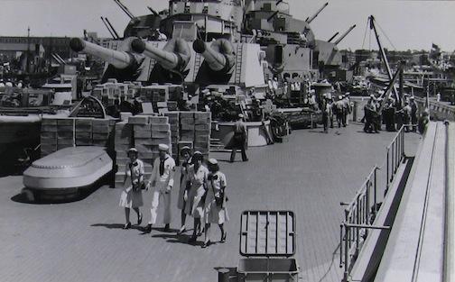 WAVES onboard USS Missouri.